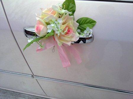 украшения на авто свадьба